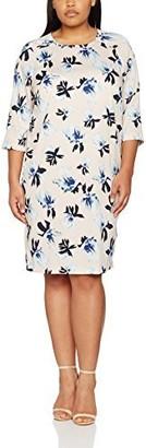 Junarose Women's Plus Size Rinse 3/4 Sleeve Dress