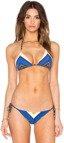 Vitamin A Natalie Miter Stripe Bikini Top