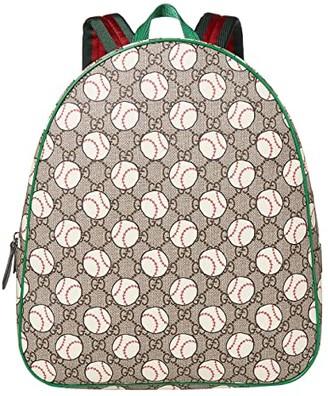 Gucci Kids Backpack 433578HYBAN (Little Kids/Big Kids) (Beige/Ebony/VRV) Backpack Bags