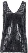 Wallis Dark Grey Sequin Embellished Camisole Top