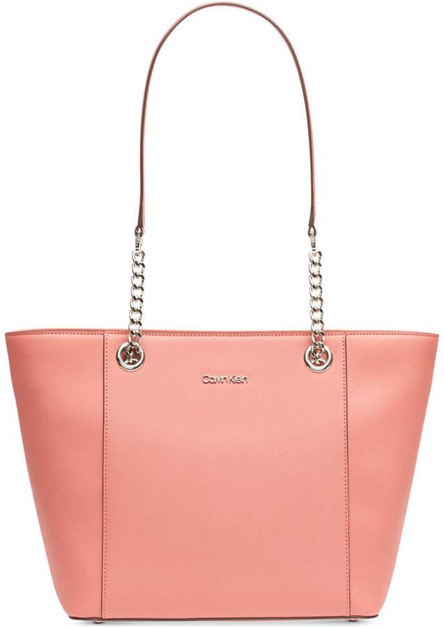 c7b6248ad5e Calvin Klein White Leather Tote Bags - ShopStyle