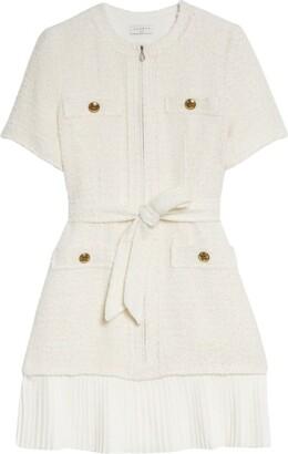 Sandro Paris Contrast-Trim Mini Dress