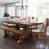 Walker Edison Countryside Chic 6-piece Antique Brown Wood Dining Set with Bench
