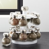Crate & Barrel Revolving Spice Rack with 16 Jars