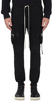 Rick Owens Men's Cotton Drawstring-Waist Cargo Pants-BLACK