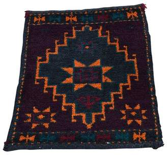 Bloomsbury Market Kist Afghan Baluch Bag Face Sample Hand-Knotted Moonless Night Area Rug Bloomsbury Market