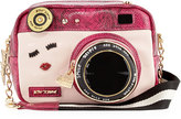 Betsey Johnson Close Up Camera Crossbody Bag, Fuchsia