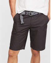 Express classic fit 10 inch belted flat front shorts