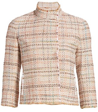 Akris Punto Cropped Tweed Jacket
