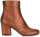Maison Margiela snakeskin effect ankle boots - women - Calf Leather/Leather - 36
