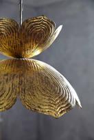 Anthropologie Brass Lotus Pendant