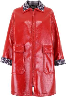 Bottega Veneta Glossy Zipped Coat