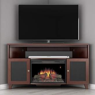 Furnitech Shaker TV Stand for TVs up to 70 inches with Fireplace Included Furnitech