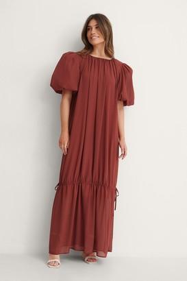 NA-KD Big Puff Sleeve Chiffon Dress