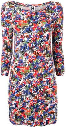 Missoni Pre Owned 1990's Abstract Print Fitted Dress