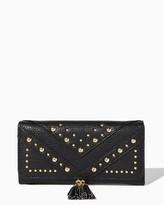 Charming charlie Tassel Stud Foldover Wallet