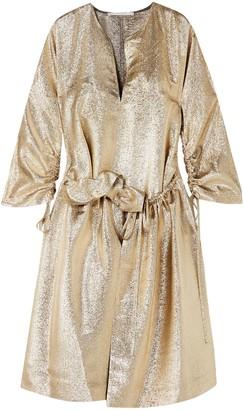 Stella McCartney Gali Gathered Lurex Dress