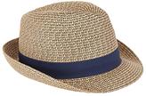 John Lewis Two Twist Braid Trilby Hat, Natural