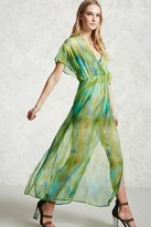 Forever 21 FOREVER 21+ Watercolor Maxi Dress