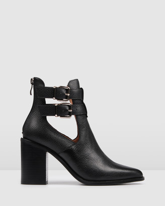 Jo Mercer - Women's Black Heeled Boots - Lucy High Ankle Boots - Size One Size, 40 at The Iconic