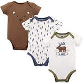 Hudson Baby Brown Bear Bodysuit Set - Infant