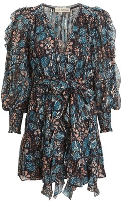 Ulla Johnson Natalia Silk Georgette Floral Dress