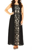 City Chic Plus Size Women's 'Sheer Romantic' A-Line Maxi Dress