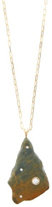 Cvc Stones Harvest Diamond & 18kt Gold Stone Necklace - Gold