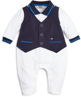 Armani Junior Armani Infant Boys' Coverall with Vest - Sizes 3-9 Months