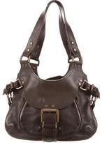 Mulberry Buckle-Trimmed Shoulder Bag