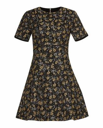 Ted Baker Divwine Floral Jacquard Skater Dress