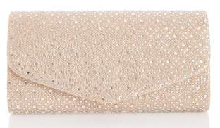 Dorothy Perkins Womens *Quiz Gold Diamante Clutch Bag, Gold