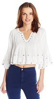 Raga Women's Bardot Crop Top