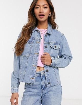 Noisy May denim jacket in light blue denim