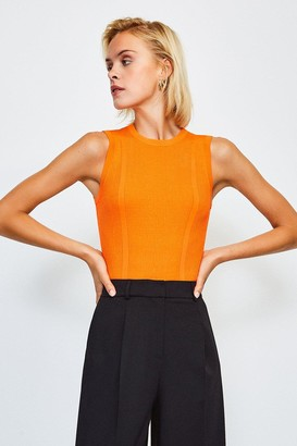 Karen Millen Rib Knitted Sleeveless Top