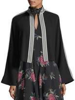 Nanette Lepore Me Gusta Striped-Trim Jacket