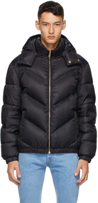 Versace Black Down Quilted Jacket