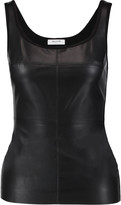 Bailey 44 Fonda paneled faux leather and stretch-jersey tank
