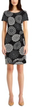 Robbie Bee Petite Printed Sarong Dress