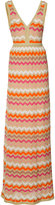 M Missoni striped maxi dress - women - Viscose - 38
