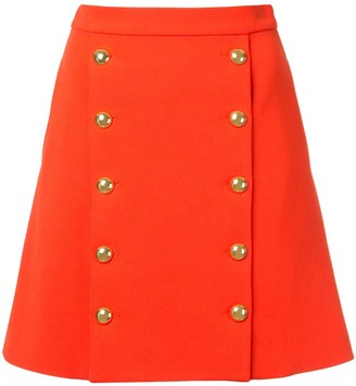 macgraw Buttoned Front Mini Skirt