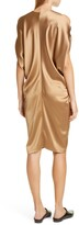 Zero Maria Cornejo Miu Cold Shoulder Crepe Back Satin Dress