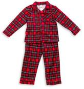 Little Me 2-Piece Plaid PJs in Red