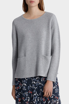 Crew Neck Sweater with Pocket Detail