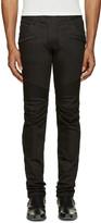 Balmain Black Raw Biker Jeans