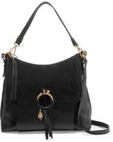 See by Chloe Joan Suede-paneled Leather Shoulder Bag - Black