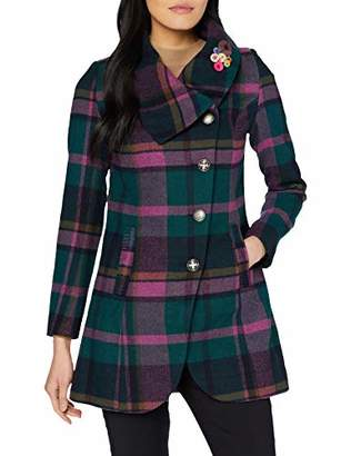 Joe Browns Womens Colourful Check Button Up Coat Multicoloured