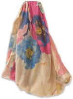 Elle Wide Neutral Floral Head Wrap