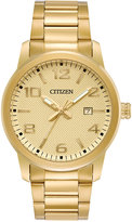 Citizen Men's Quartz Gold-Tone Stainless Steel Bracelet Watch 42mm BI1022-51P, A Macy's Exclusive Style