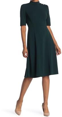 Donna Morgan Mock Neck Fit & Flare Dress